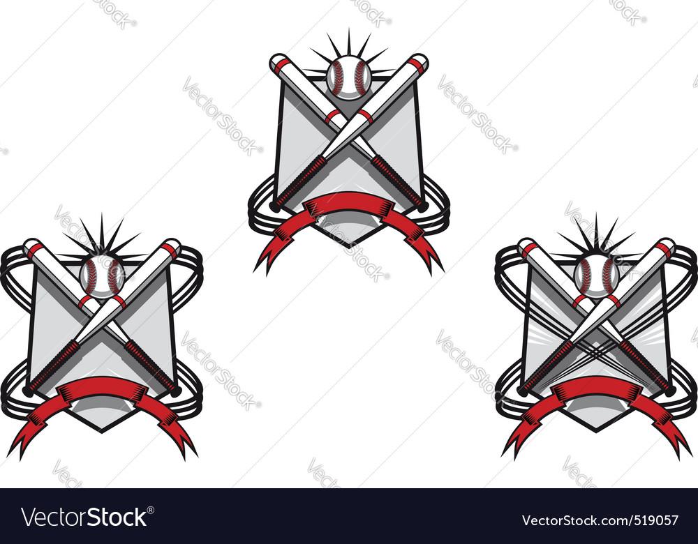 Baseball emblems vector image