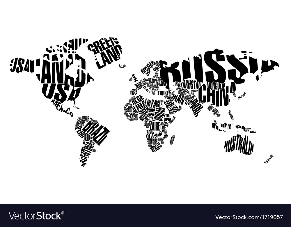 World map in typography royalty free vector image world map in typography vector image gumiabroncs Choice Image