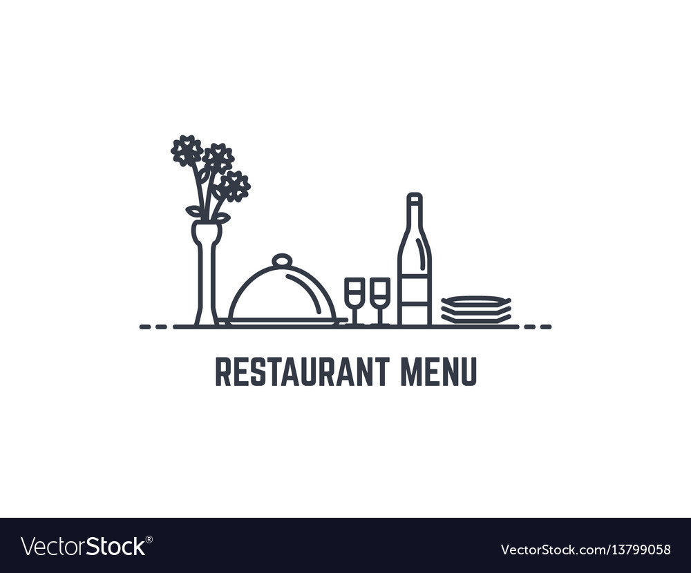Restaurant menu banner vector image