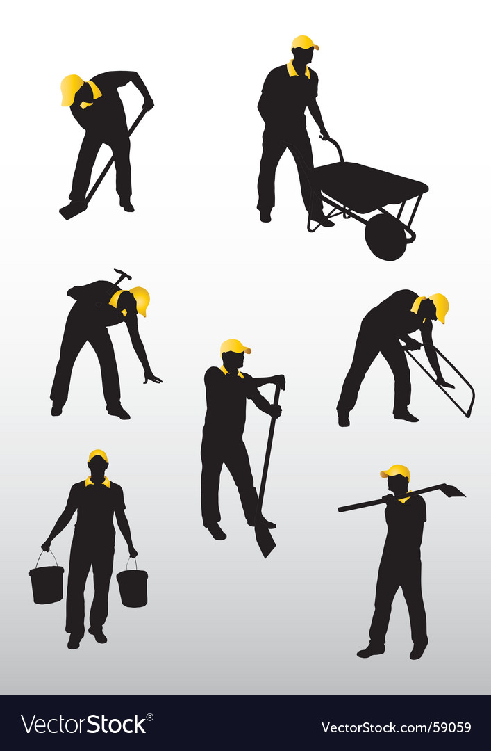 Hard work vector image