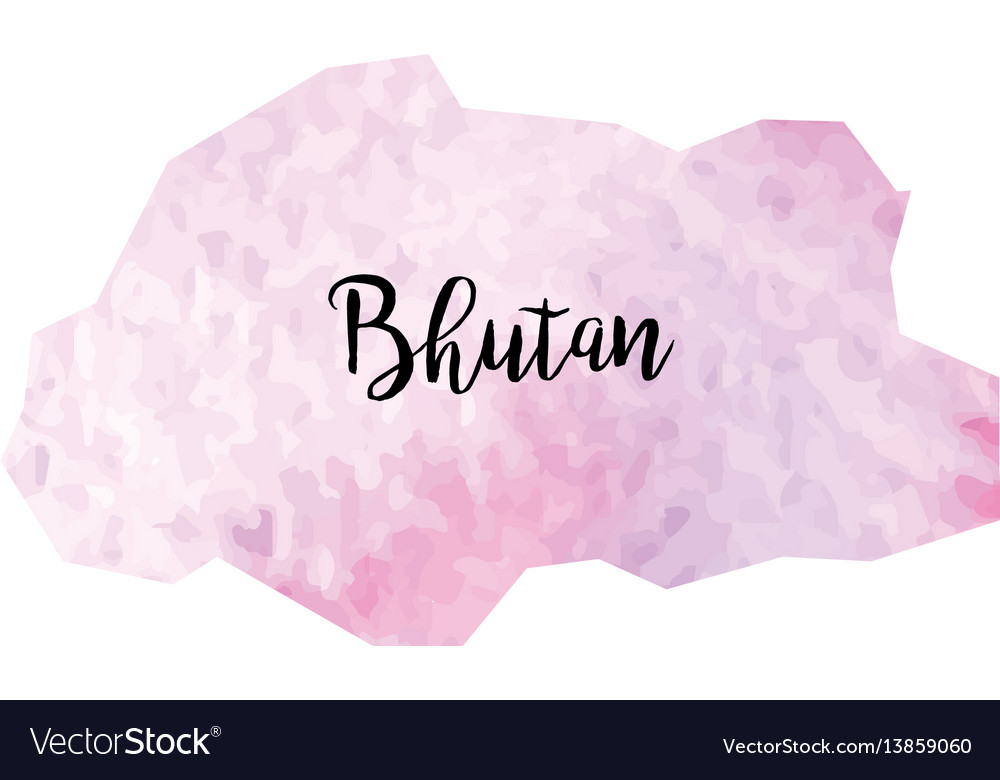 Abstract bhutan map vector image