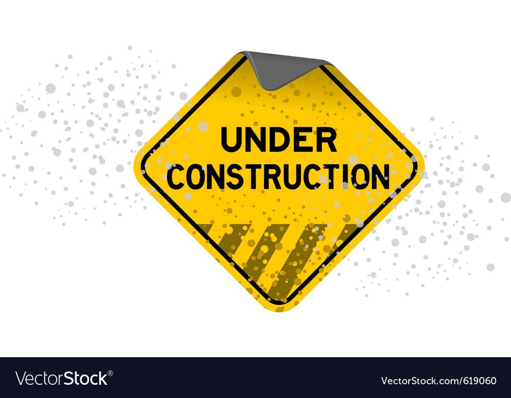 Dusty under construction vector image