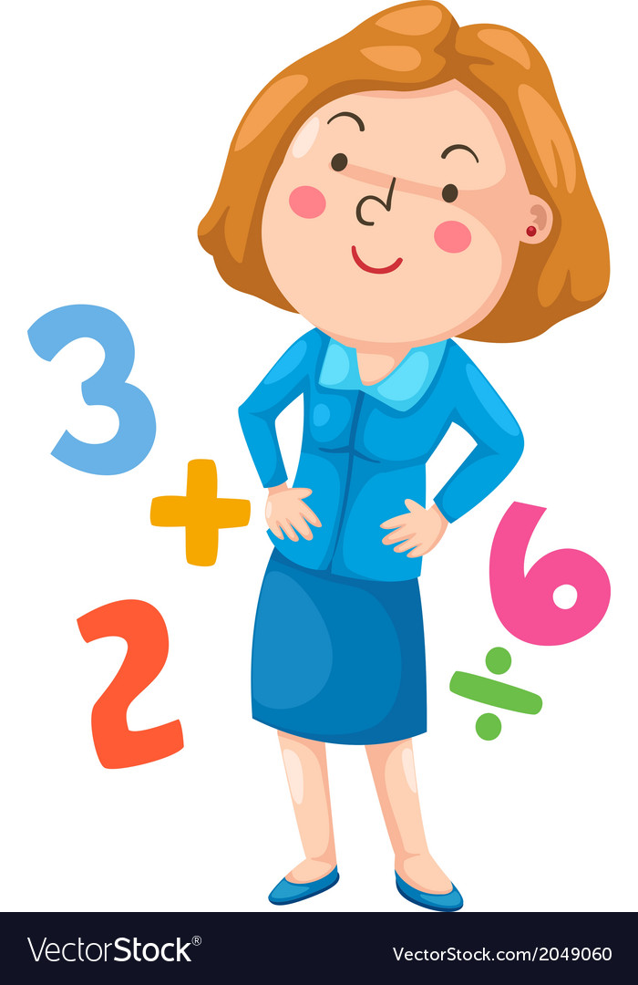 Isolated teacher in the class vector image