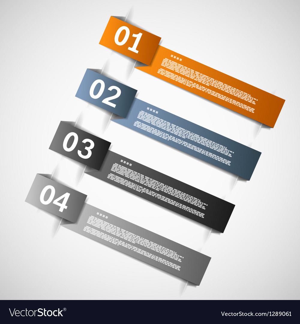 Color paper templates for progress vector image