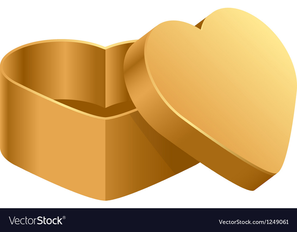 Heart box vector image