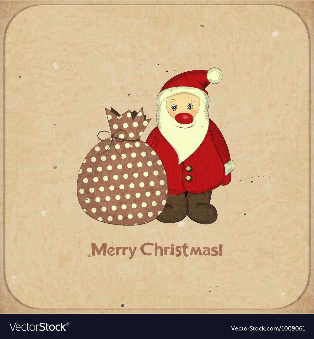 Santa and bag with gifts vector image