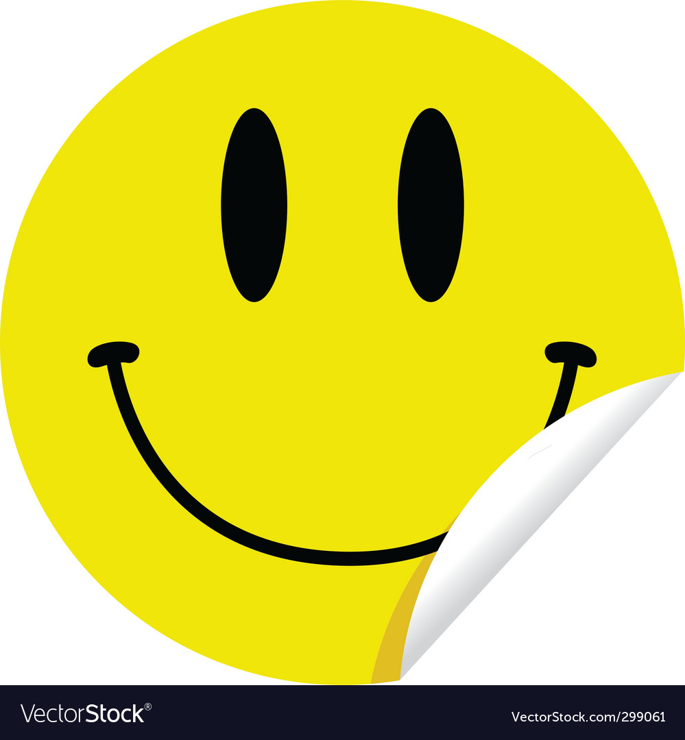 Smiley sticker vector image