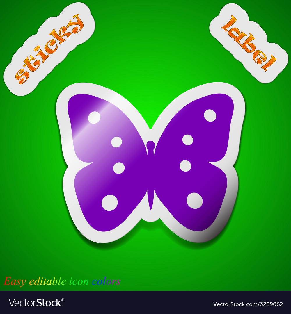 Butterfly icon sign symbol chic colored sticky vector image biocorpaavc Images