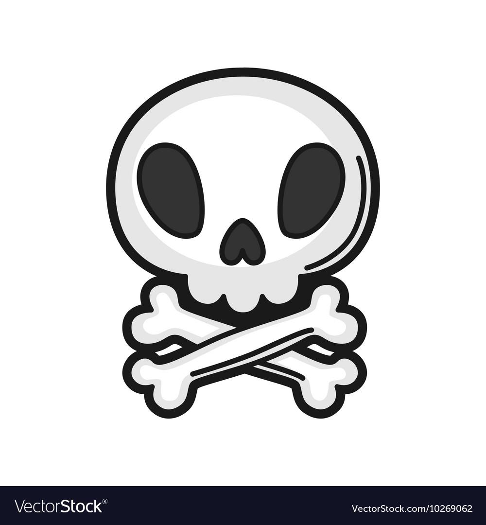 Skull Icon on white background vector image