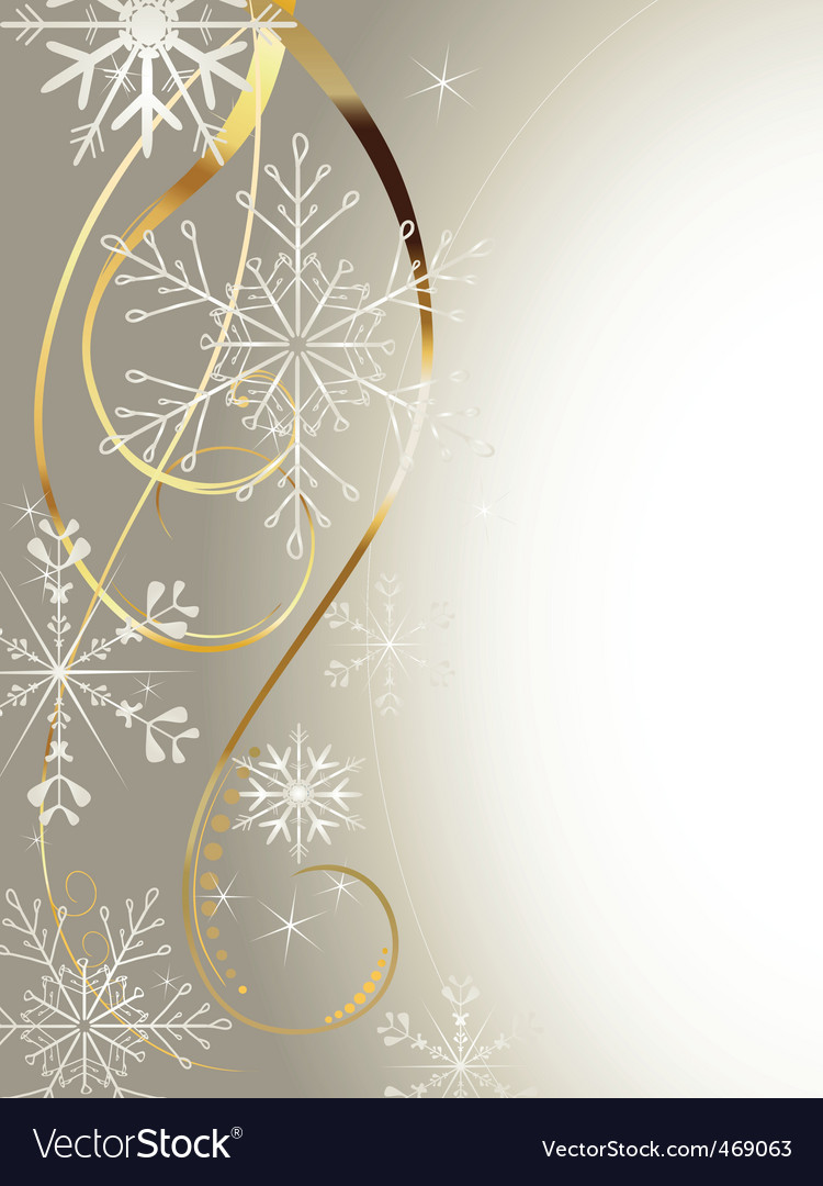 Background with gold and snowflakes2 vector image