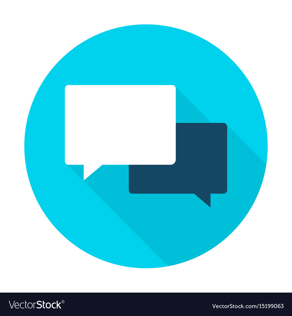 Communication flat circle icon vector image