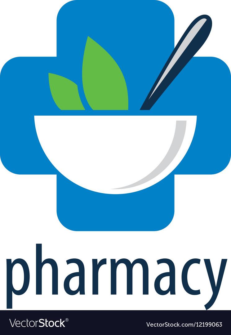 Logo pharmacy vector image