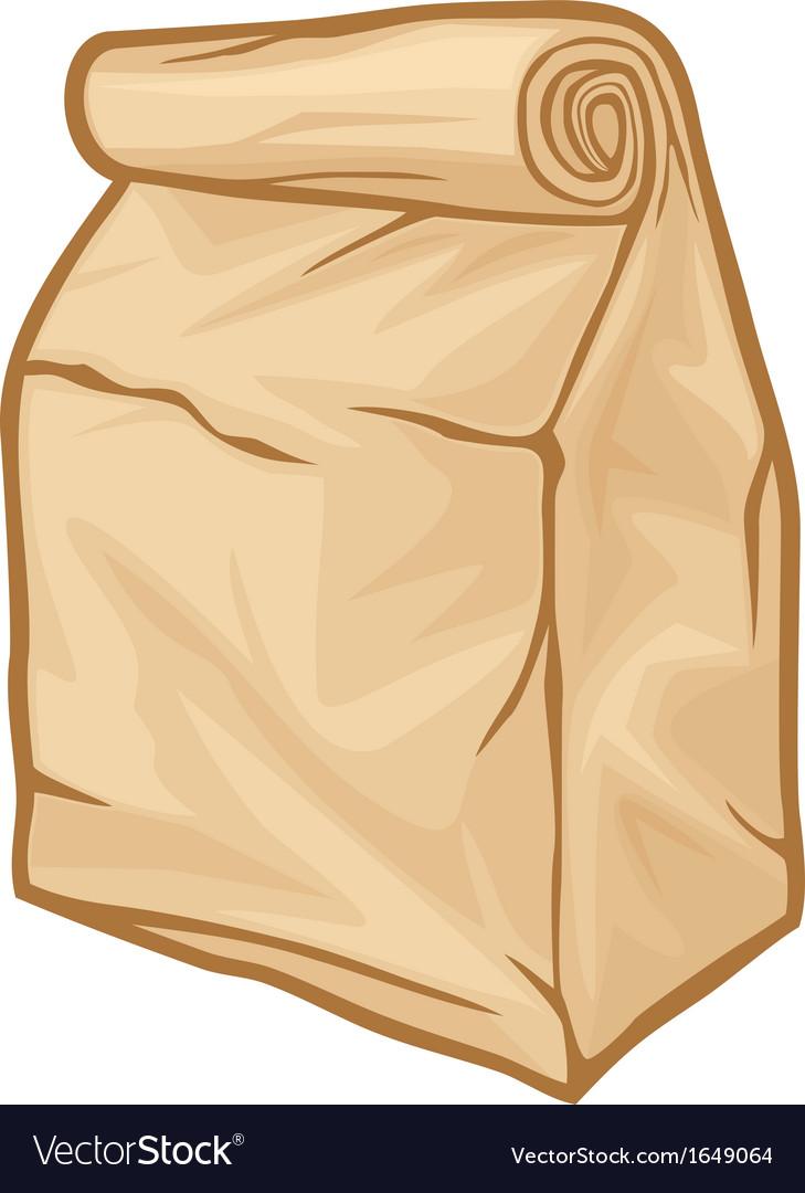 Paper bag vector - Paper Bag Vector Image