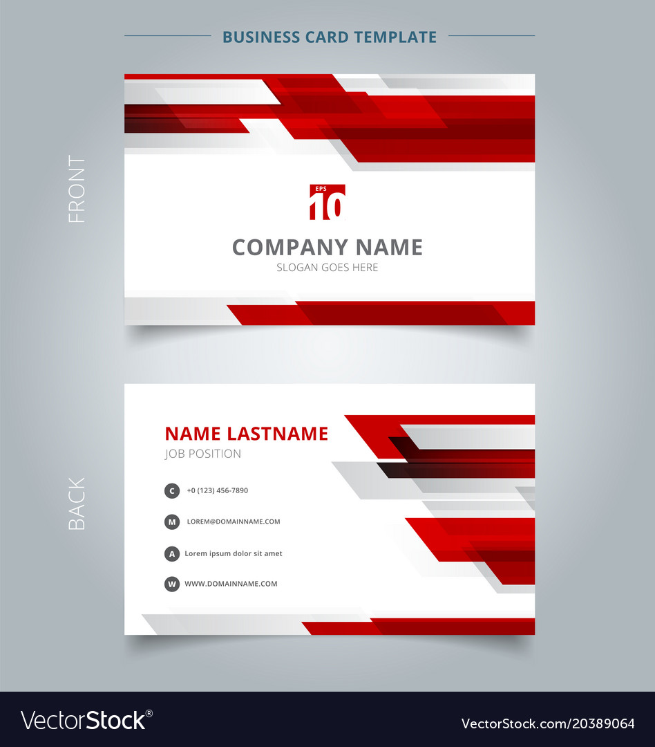 Creative business card and name card template vector image reheart Image collections