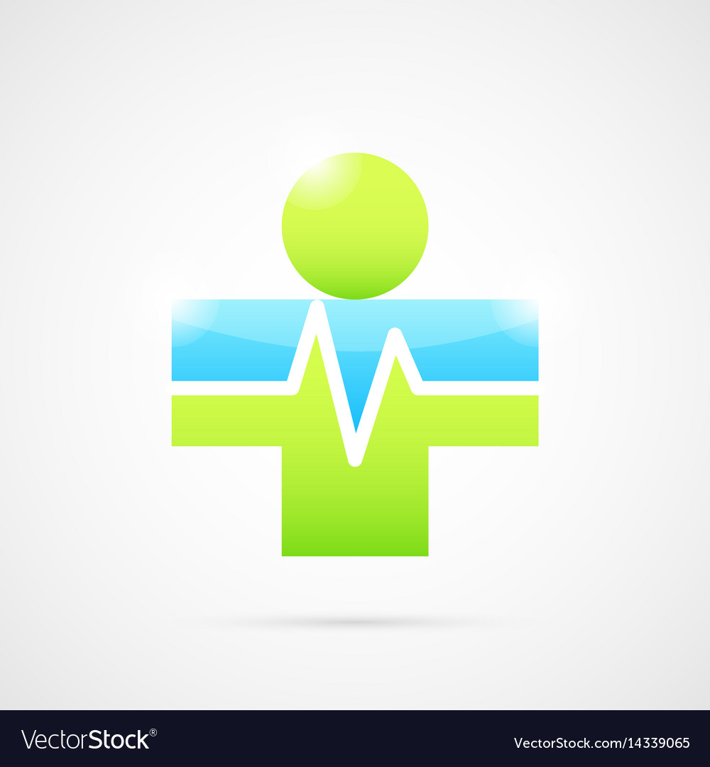 Medical cross like human body vector image