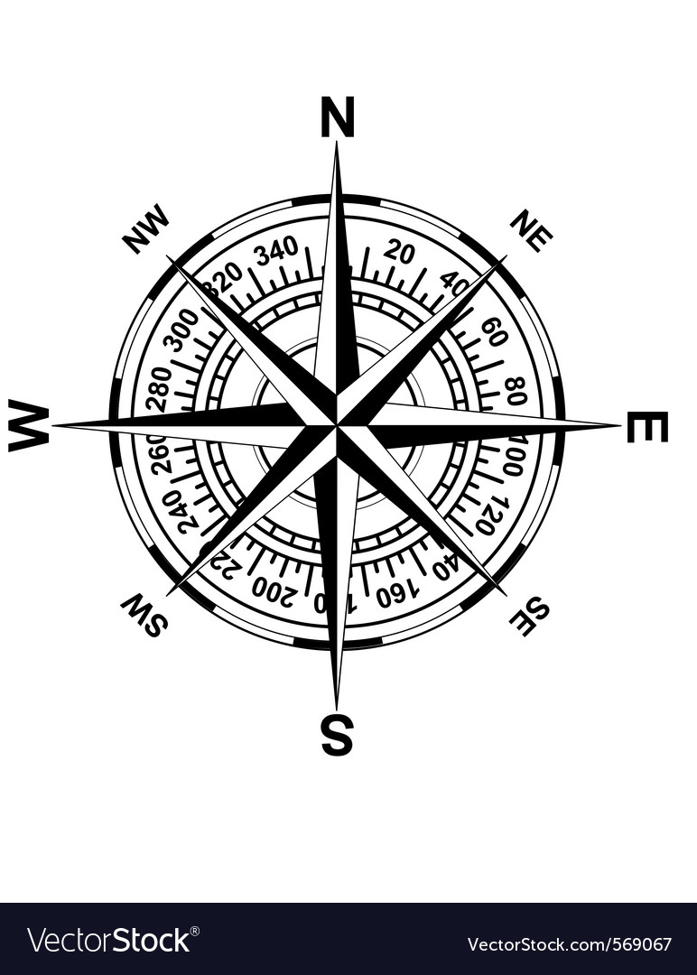 Antique magnetic compass royalty free vector image antique magnetic compass vector image pooptronica