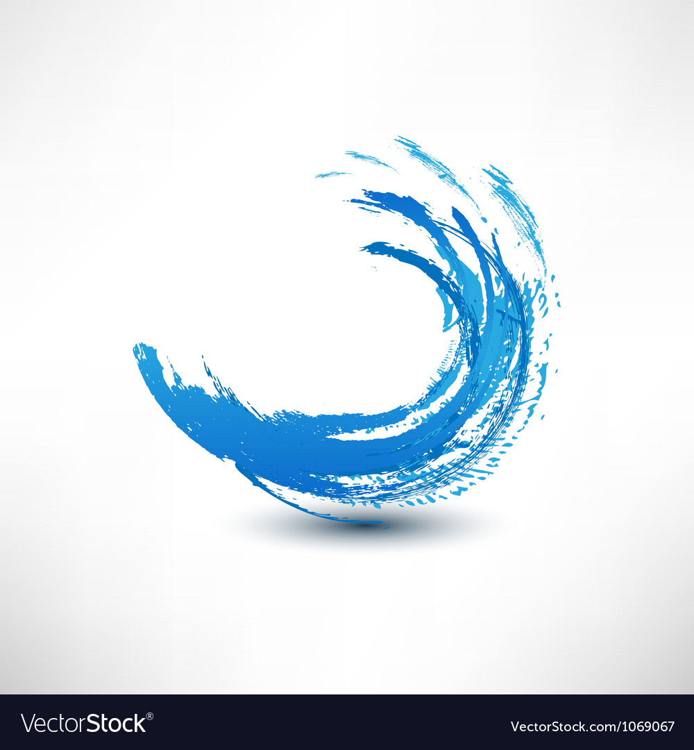 Blue wave sign vector image