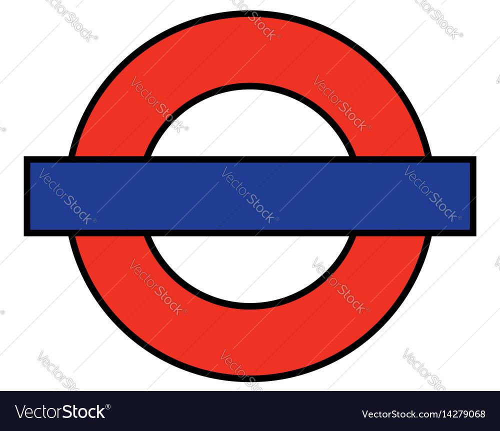London underground blank vector image