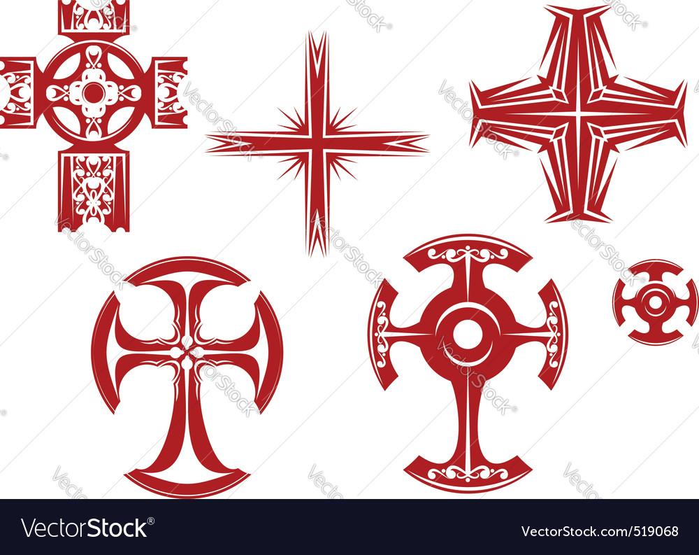 Religious crosses vector image