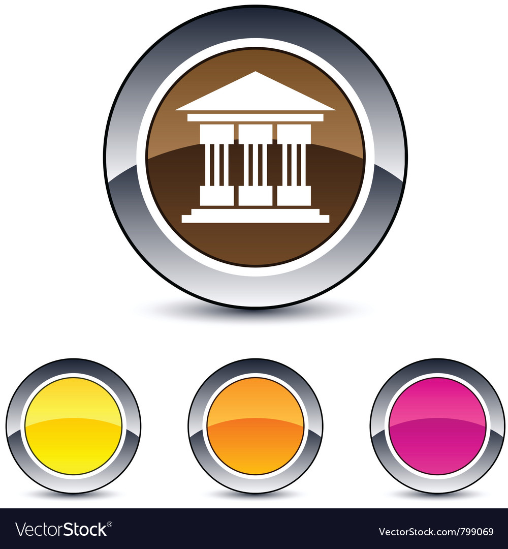 Exchange round button vector image