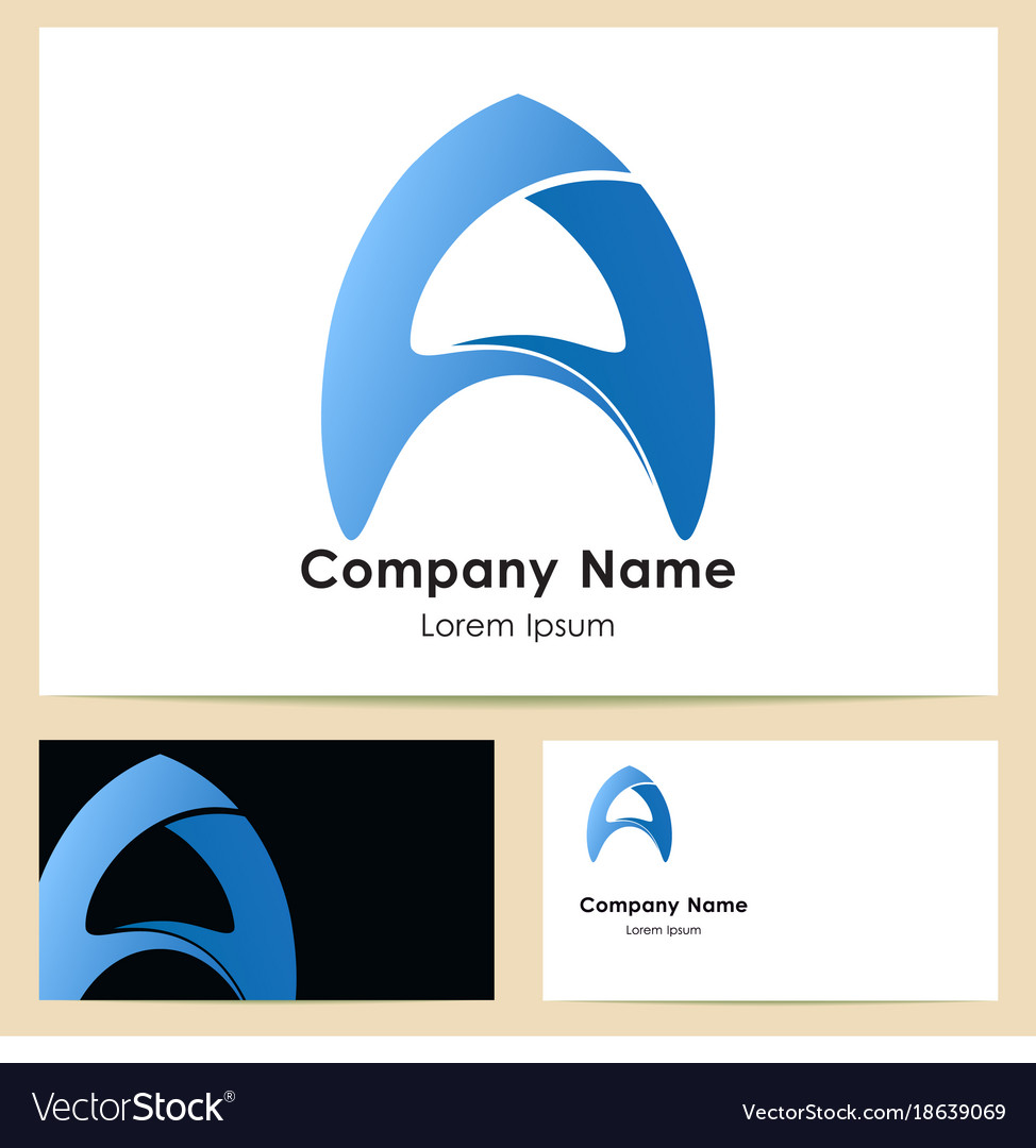 Business card template with logo Royalty Free Vector Image