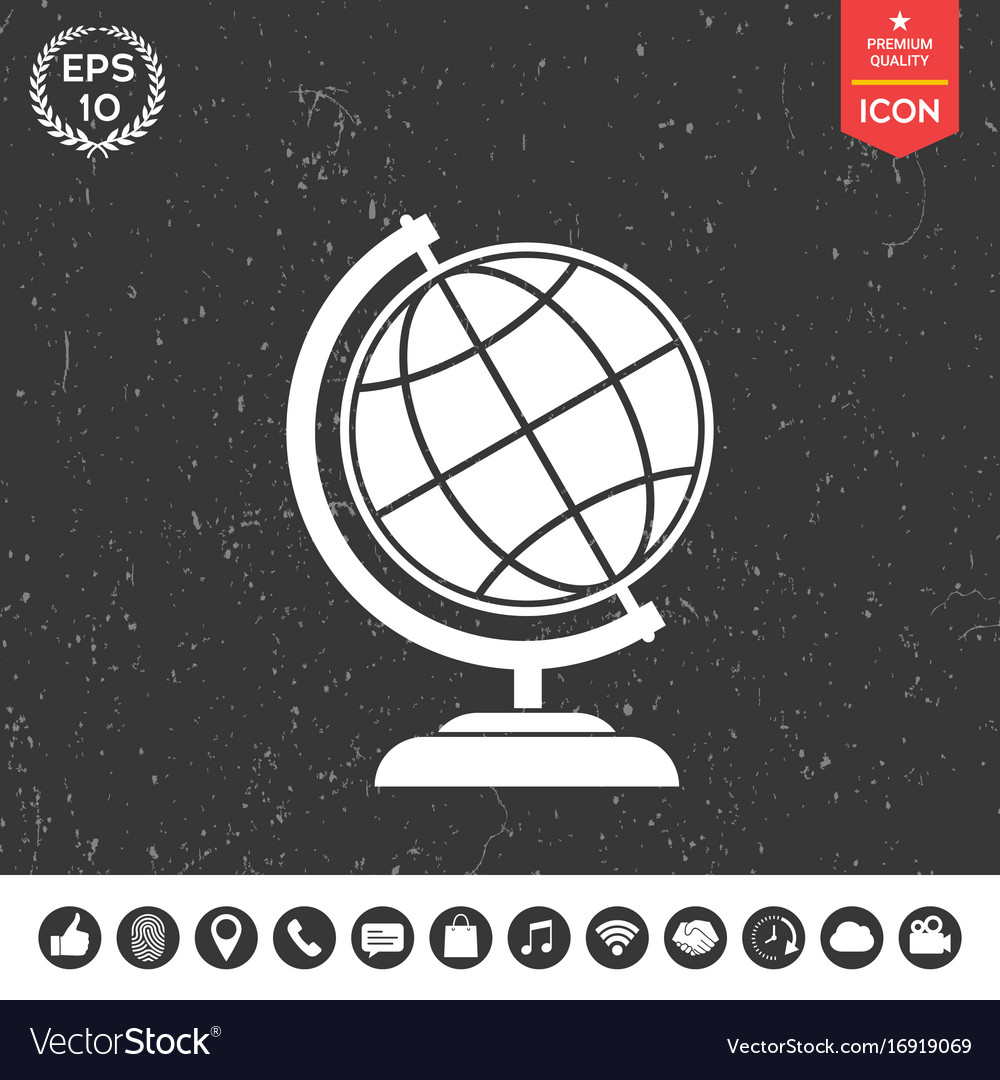 Globe symbol - earth icon vector image