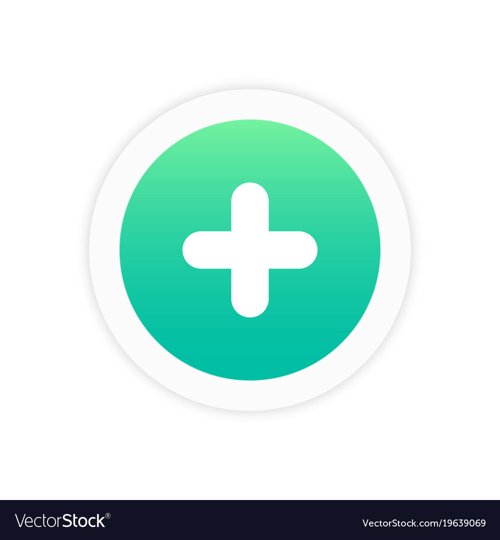 Plus icon sign vector image