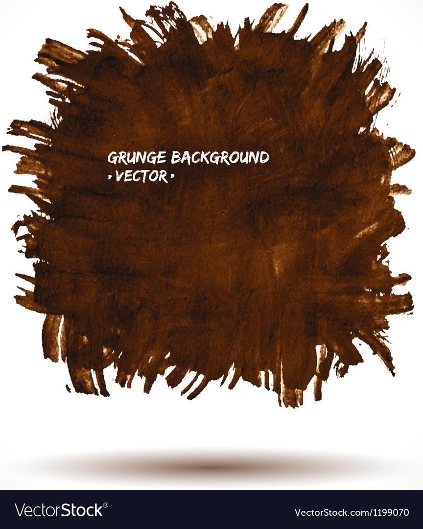 BROWN GRUNGE SHAPE vector image