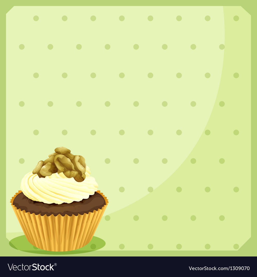 A special paper design with a cupcake vector image