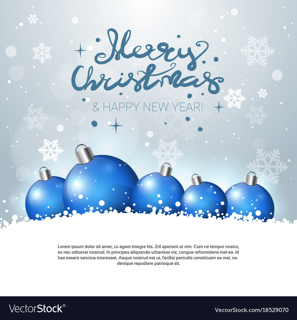 Holiday greeting card merry christmas poster with vector image kristyandbryce Gallery
