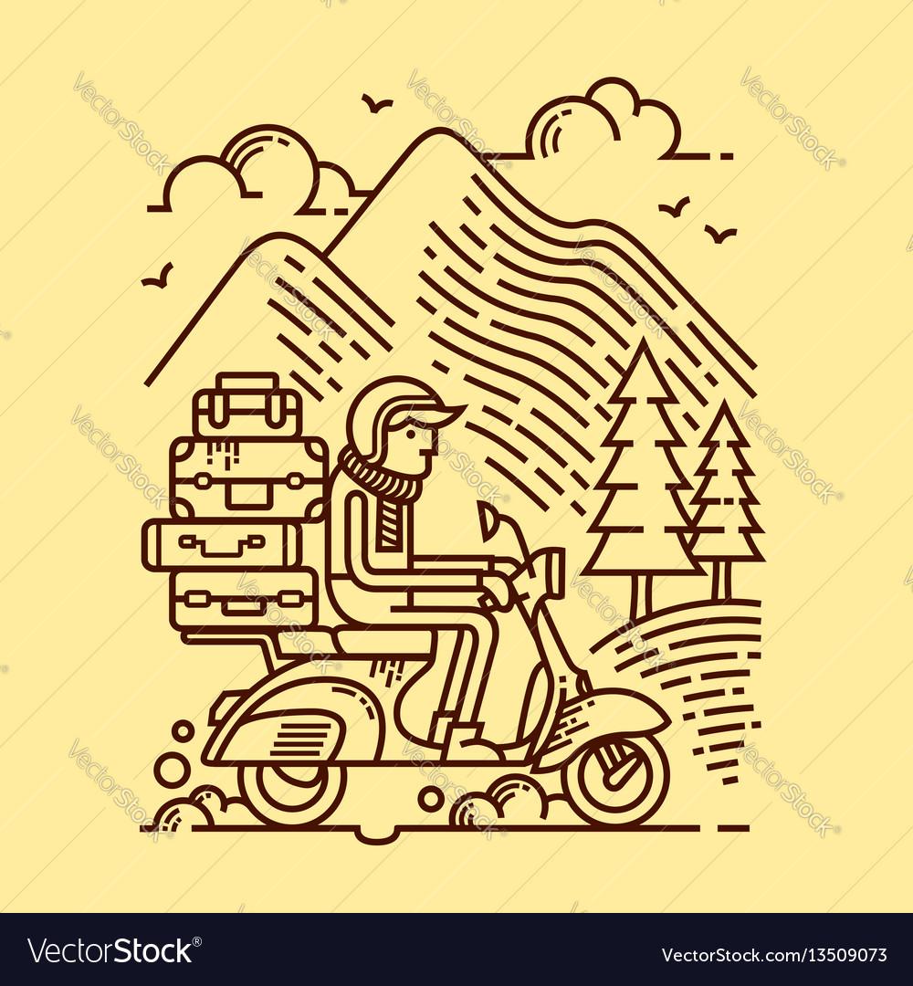 Adventure vector image
