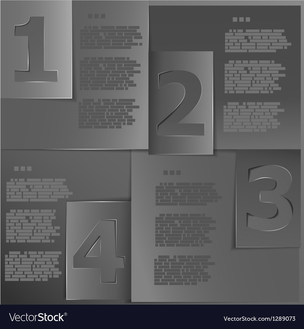 Black paper templates vector image