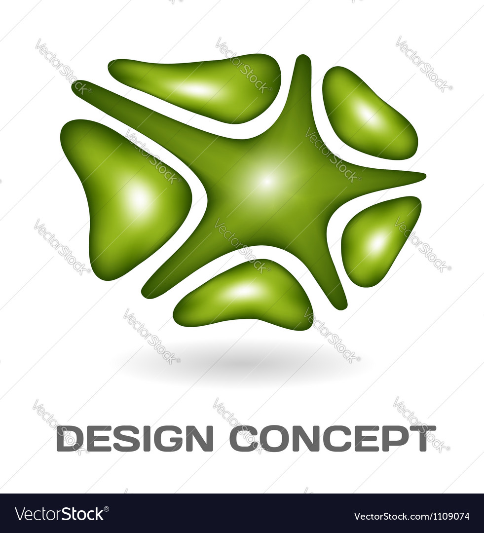 Abstract design concept vector image