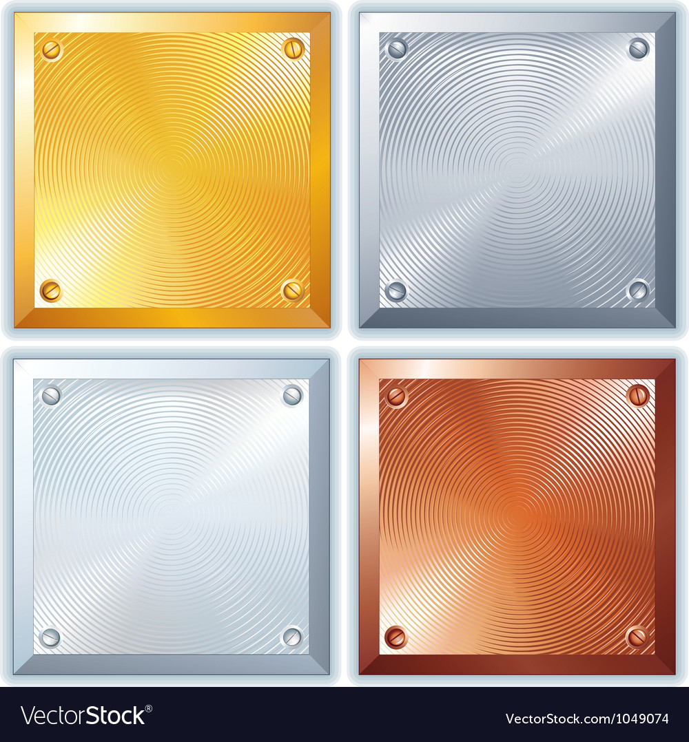 Shiny Metal Signs vector image