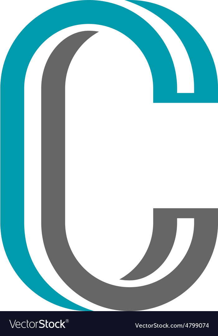 Twisted Letter C Icon Royalty Free Vector Image