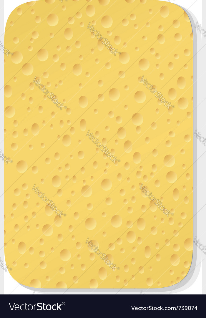 Yellow washing sponge vector image