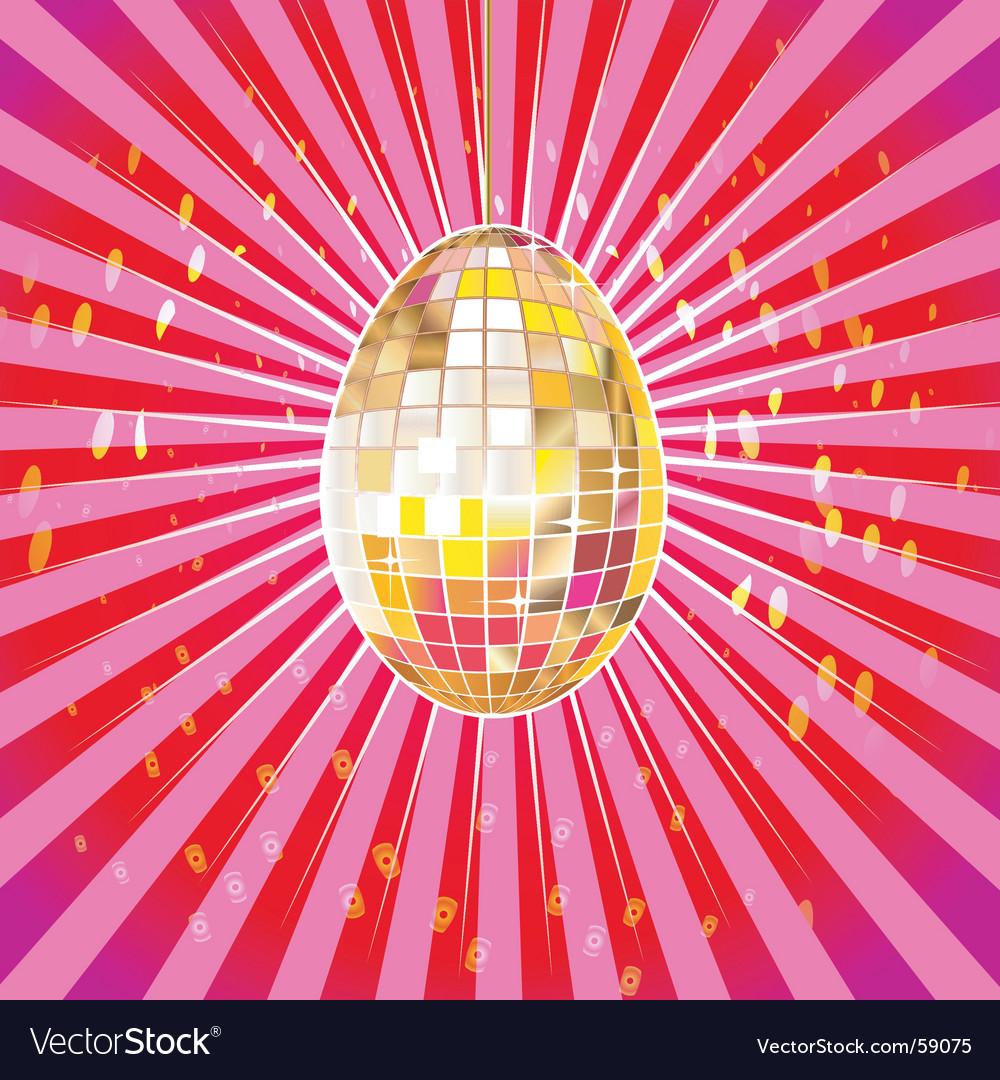 Disco egg vector image