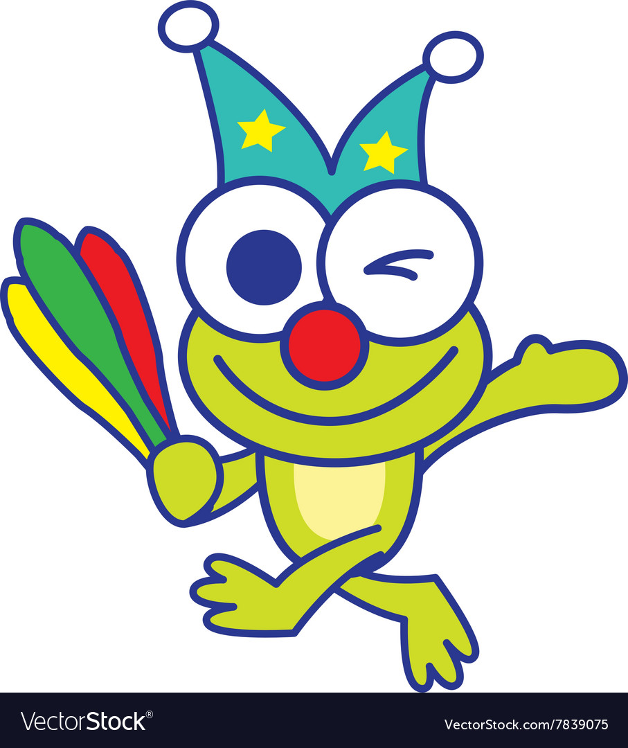 Circus Frog vector image