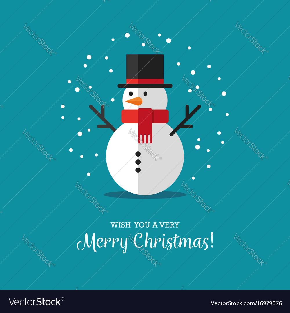 Flat snowman icon vector image