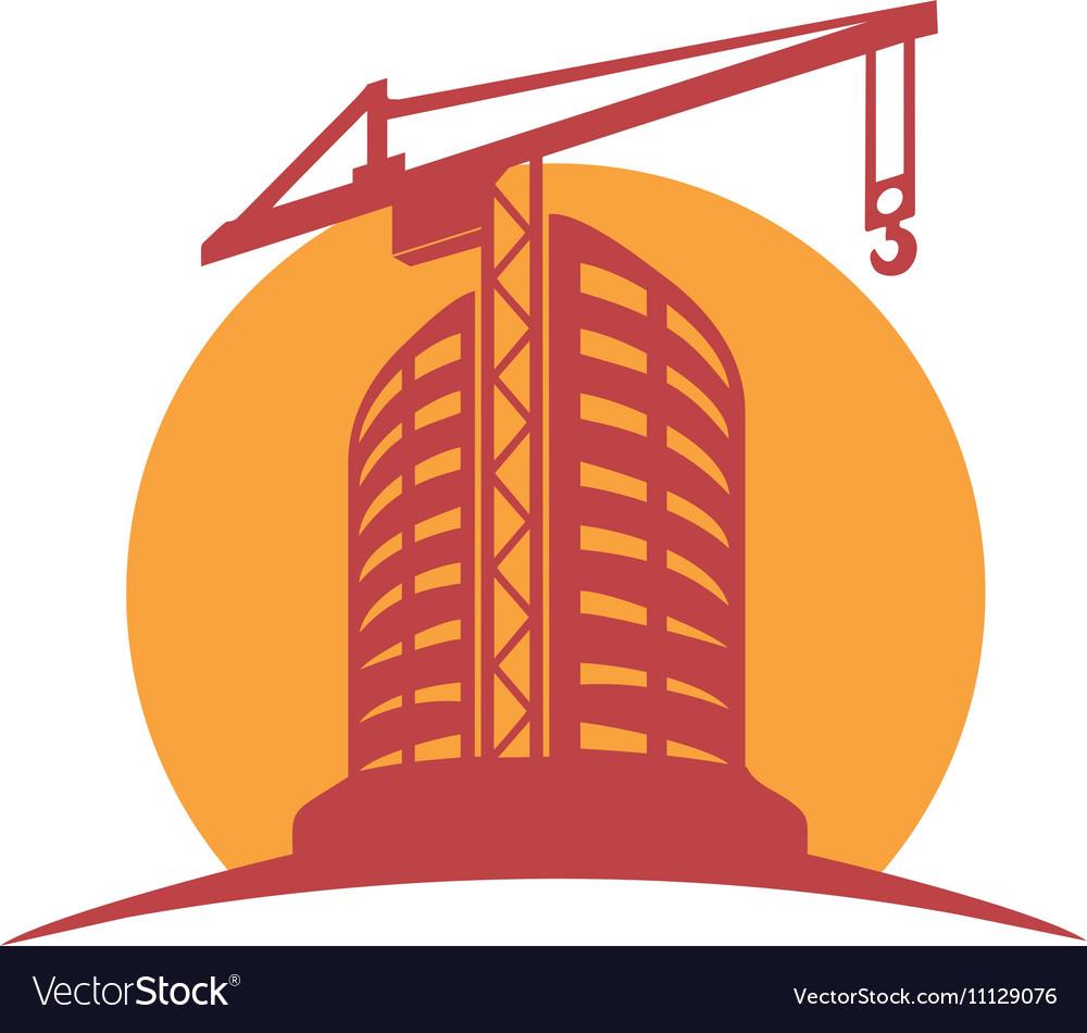Sketch line flat design of business city vector image