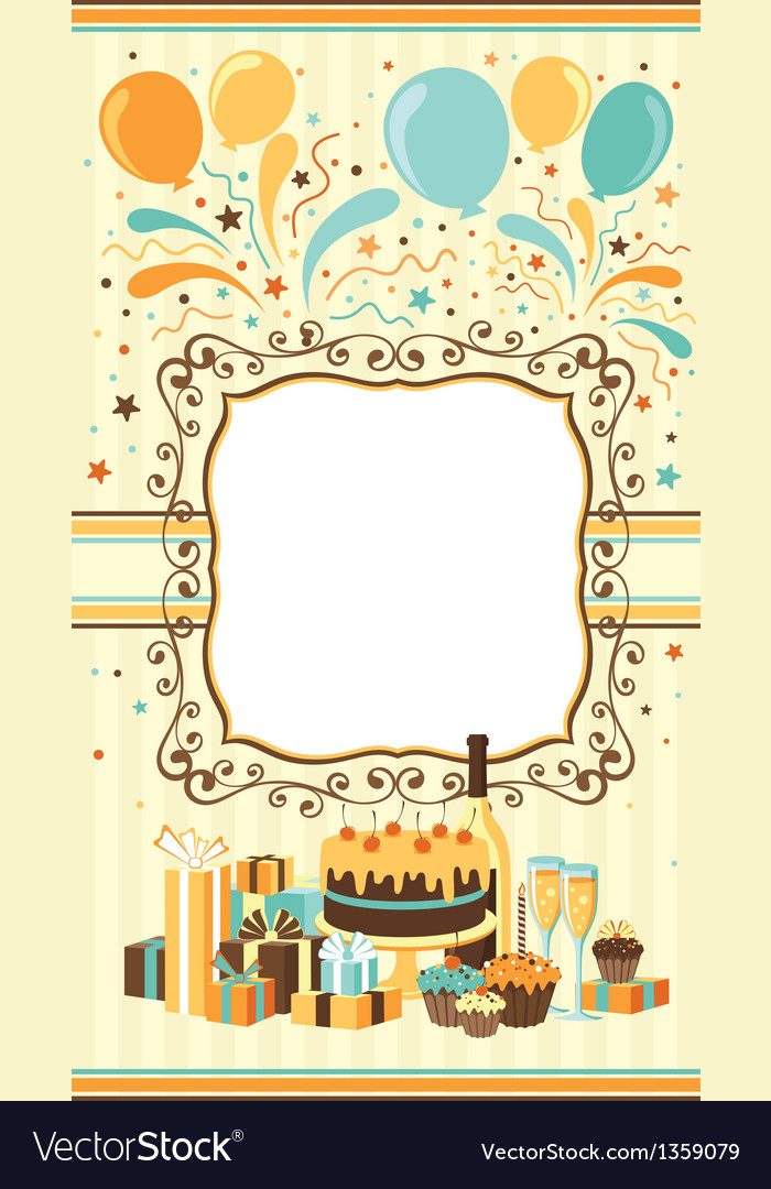 Celebration card template vector image