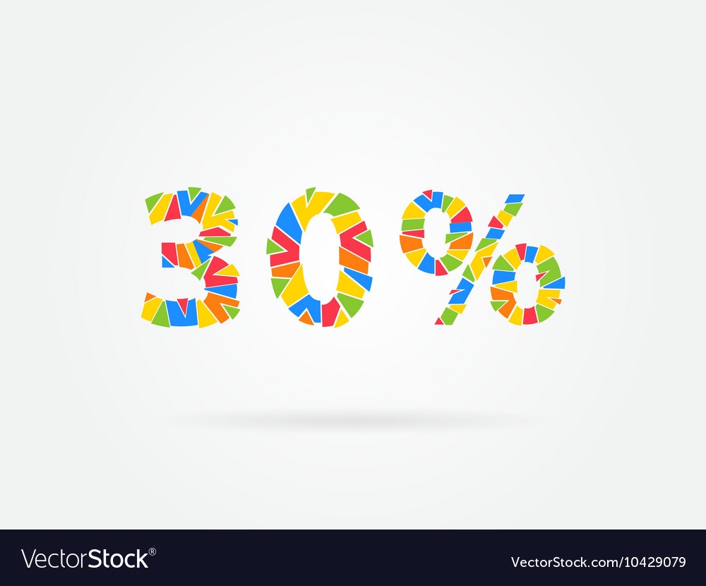 Discount 30 percent colorful vector image