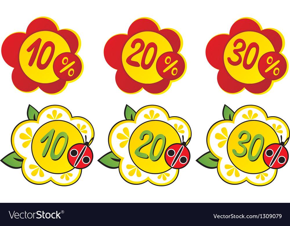 Discount vector image