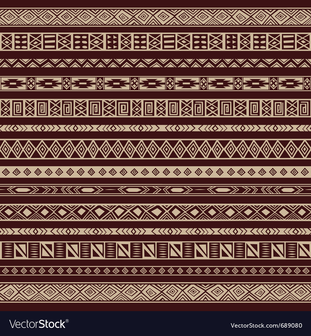 African ethnic stripes vector image