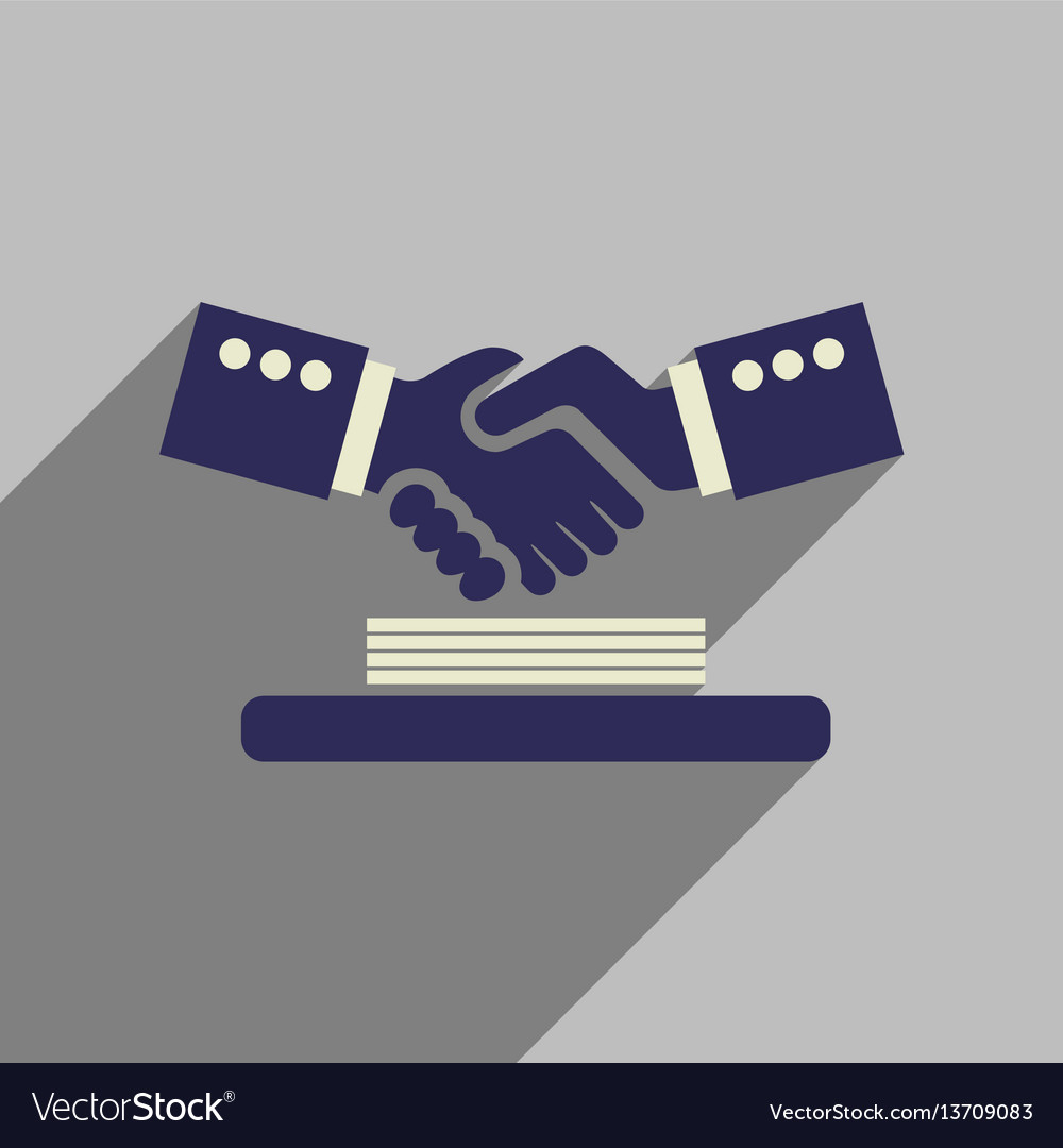 Business Flat Icon Handshake
