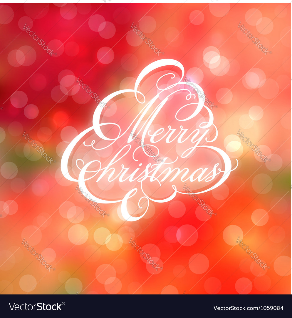 Calligraphic Christmas tree Vector Image