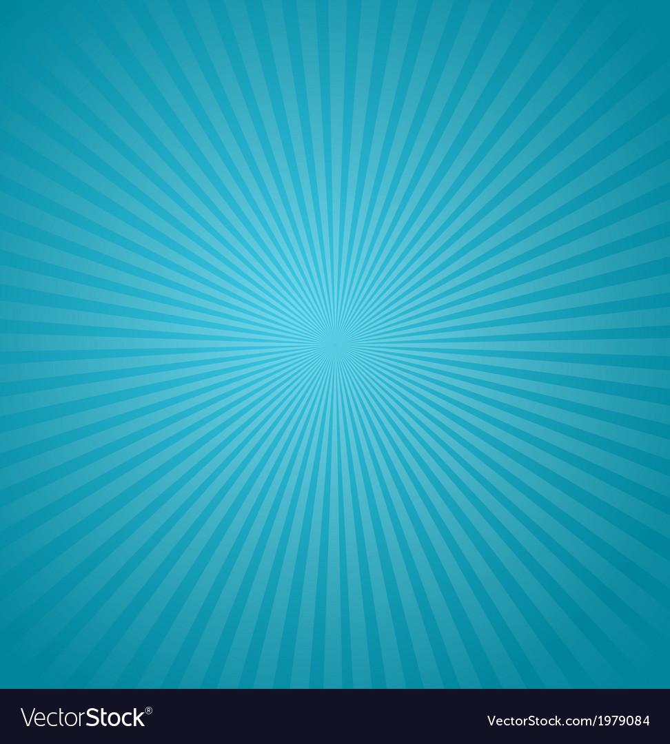 Blue rays background Burst vector image