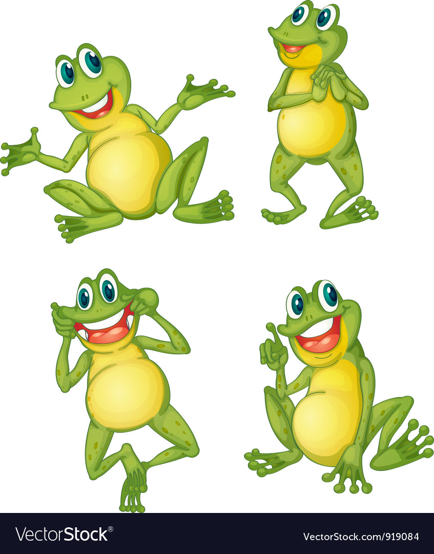 Frog series royalty free vector image vectorstock for Frog agency