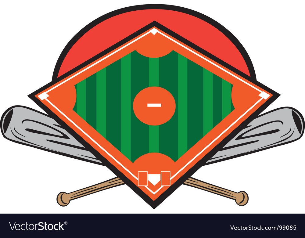 Ball field design vector image