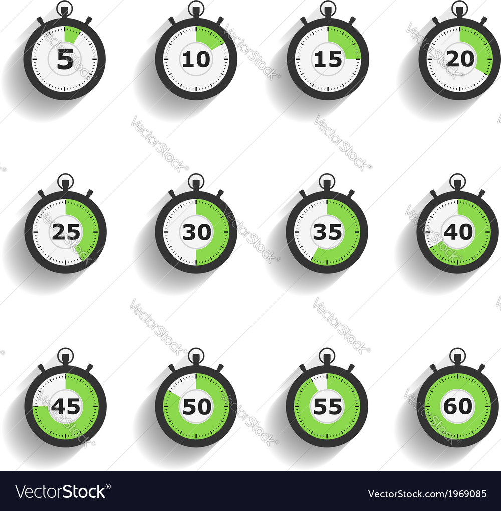 Stopwatch Icons vector image